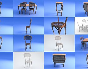 decoration Art Nouveau Furniture 3D model