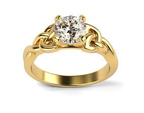 3D print model Celtic Engagement Ring
