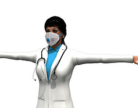 indian young woman doctor 3d model