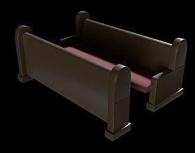 3D asset Church Pew Set