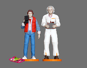 MARTY MCFLY DOC EMIT BROWN BACK TO THE 3D print model 2