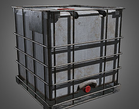 Water Storage Tank - PBR Game Ready 3D asset low-poly