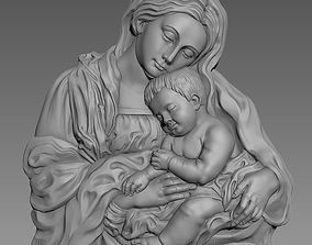 3D printable model Virgin Mary and Baby Jesus