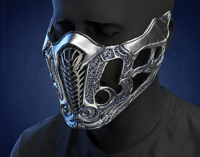 Sub Zero mask for face from Mortal Kombat 2021 3D print 1