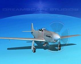 3D model P-51 Mustang Sport Bare Metal