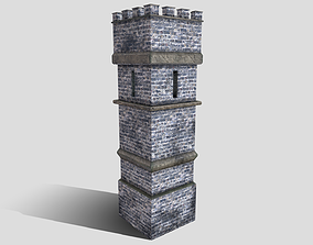 Medieval Tower 3D model game-ready