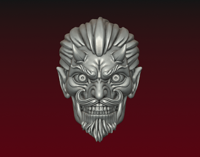 3D printable model Devil head Demon head smiling