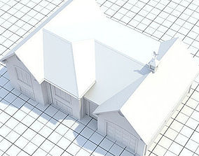 3D Colonial style house 1