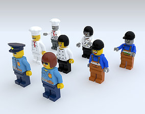 3D asset Game Ready Lego Characters