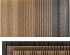 Wood panels set4 3D