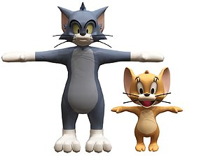 3D model game-ready tom and jerry