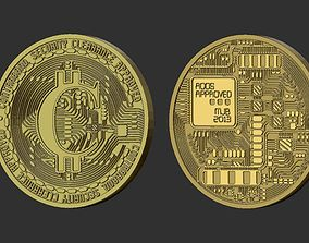 3D printable model bitcoin stereolitograpgy