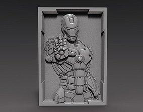 3D printable model Iron Man bas-relief cnc