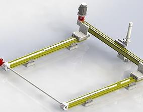 3D model Synchronous servo motor