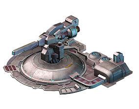 Mechanical Building - Fleet Turret 01 3D model