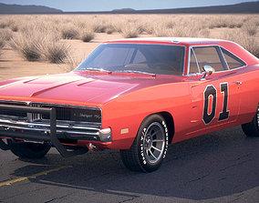 Dodge Charger 1969 General Lee 3D