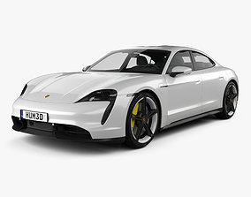 car 3D Porsche Taycan Turbo S 2020