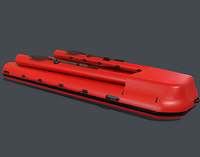 Inflatable boat PBR 3D model
