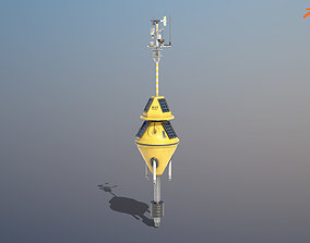 Weather Data Buoy 3D model VR / AR ready