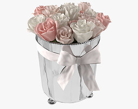 3D model Roses in ice bucket