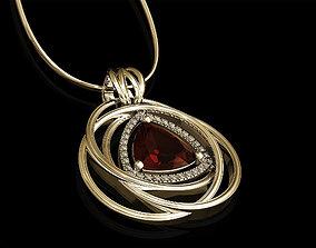 3D print model entangled celtic pendant