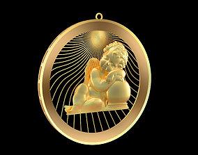 3D printable model Sleeping-Angel-Pendant-jewelry-Gold