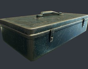 Old Metal Tool Box 3D model