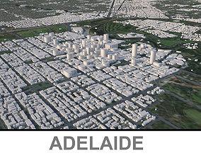 Adelaide city in Australia 3D model low-poly
