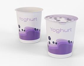 Yogurt Cup 400ml 3D asset