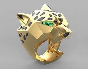 ring female 3D printable model leopard