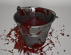 Bucket of Blood Horror 3D asset