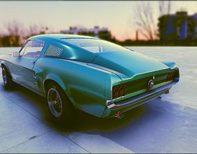 Classical old car 2 3D model