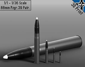 Small Scale - 88mm Pzgr 39 Patr --- 3D printable model 6
