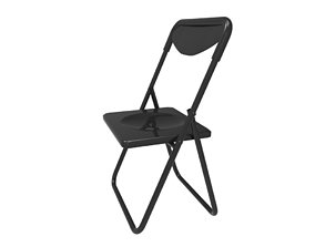 3D asset low-poly fold up chair