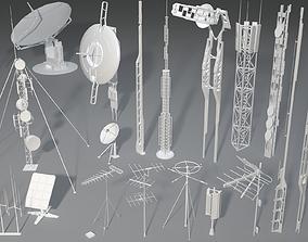 Antennas - 20 pieces - part -2 3D