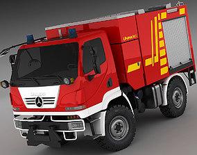 Mercedes Unimog U20 Fire Truck 3D