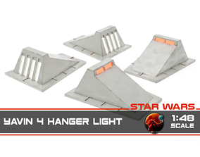 Star Wars Yavin 4 Hanger light - 1-48 scale 3D print model