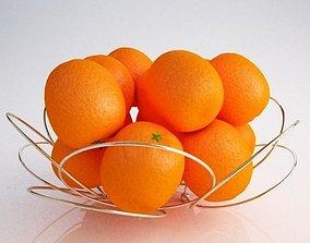 Basket oranges 3D asset