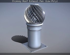 3D asset Chimney Roof Exhaust Fan Low-Poly