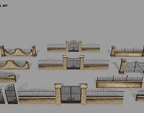 wall set 3D model