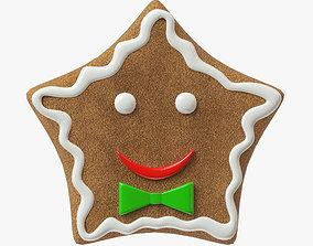 gingerbread cookie 02 3D model