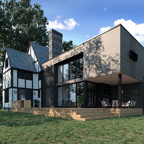 Exterior render of project 35HP / Joeb Moore & Partners studio