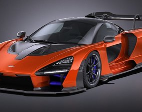 3D model LowPoly McLaren Senna 2019