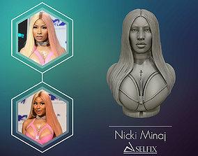 sculptures 3D sculpture of Nicki Minaj ready to 3D print