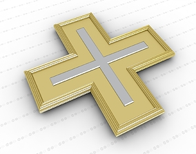 3D model ornament Cross