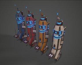 Sci-Fi Building-01 3D model