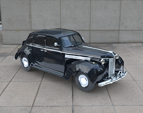 3D asset VR / AR ready 1938 BUICK Special 4 Door Sedan