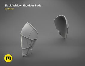 White shoulder armor BLACK WIDOW 3D PRINT