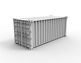 3D model 20 Foot ISO Shipping Container
