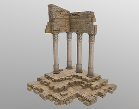 Low Poly Ruins 3D asset VR / AR ready